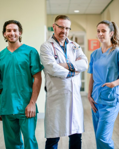 a group of medical team smiling