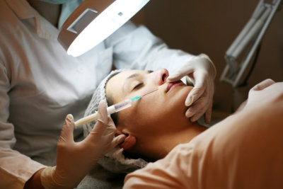 adult woman having botox treatment