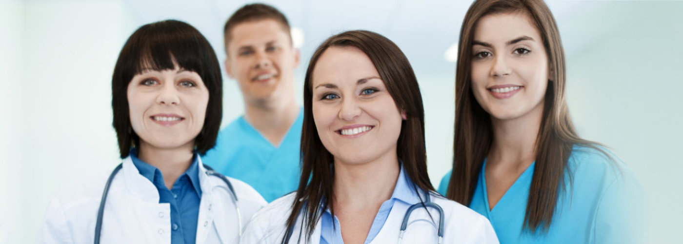 professional medical team smiling
